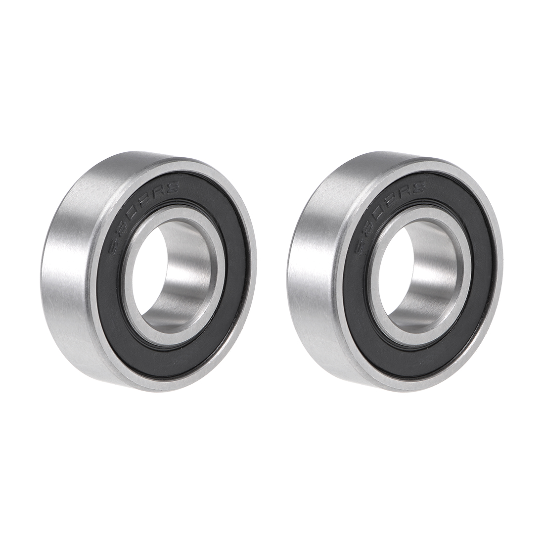 Uxcell 6202-16-2RS Deep Groove Ball Bearing 16x35x11mm Double Sealed Chrome Steel Z2 Lever Bearings 2pcs