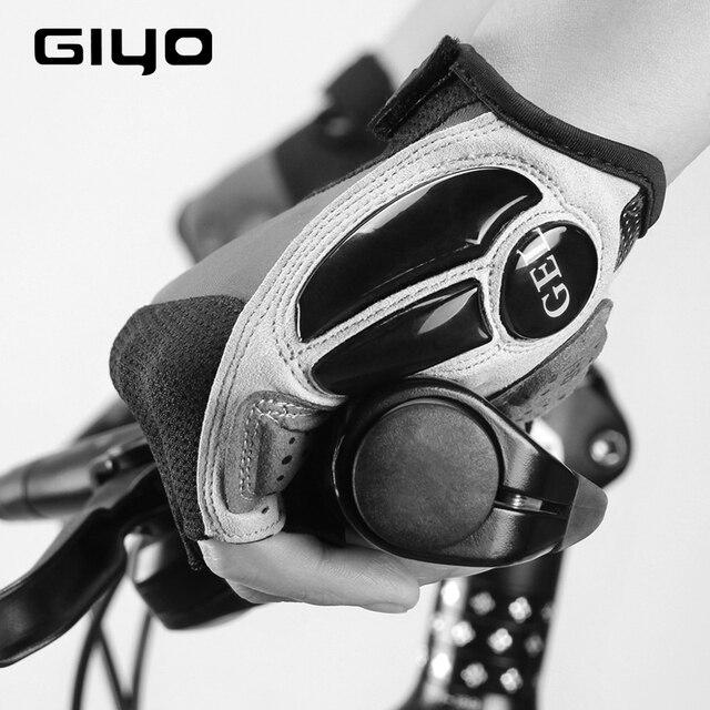 Giyo luvas sem dedos para ciclismo, luva de gel respirável para homens e mulheres para esportes ao ar livre, mtb, corrida de estrada e ciclismo dh 4