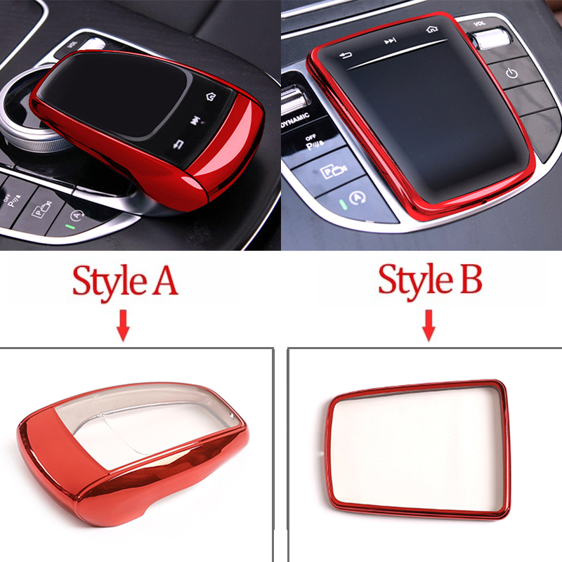 Araba aksesuarları merkezi kontrol medyası fare ekran koruyucu kapak için Mercedes Benz C E GLC GLS S sınıfı W205 W213 x253 X167 W222