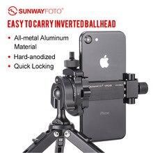 SUNWAYFOTO PMB-18 мини-штатив с шаровой головкой viode головка для телефонов и сферическая головка с камерой легко носить с собой перевернутая шаровая Головка