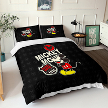 Disney Cartoon Cute Mickey Minnie Mouse Down Quilt Cover Pillowcase Boys and Girls Bedroom Decor Gift Bedding Home Textile