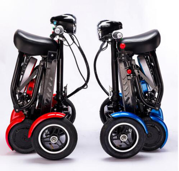 Wholesale Enhance perfect travel transformer 4 wheel folding mobility scooter new mini adult portable foldable electric scooter