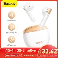 Baseus-auriculares inalámbricos AirNora TWS, cascos con Bluetooth 5,0, antipérdida, GPS, IPX4, impermeables, con Control táctil, ESTÉREO