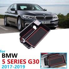 Car Organizer Accessories for BMW 5 Series G30 2017 2018 2019 520 530 540 520d 525d 540d G31 M5 M Power Armrest Box Storage
