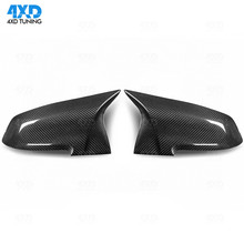 F87 M2 Dry Carbon Mirror Cover AN style For BMW F30 F20 F32 F36 X1 E84 Rearview Mirror Case Replacement 2012-2016 2017 2018 2019 universal replacement carbon fiber mirror cover for bmw rearview door mirror covers x1 f20 f22 f30 gt f34 f32 f33 f36 m2 f87 e84