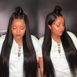Image 5 - 13x6 תחרה מול שיער טבעי פאת 8 30 Inch ישר שיער טבעי פאות רמי שיער 180 צפיפות תחרה פרונטאלית פאות לנשים שחורות