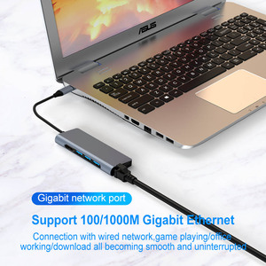 Image 5 - FSU USB C HUB With HDMI RJ45 PD Charger Card Reader USB 3.0 Adapter USB HUB For Macbook Pro Accessories Multi USB 3.0 Type C HUB