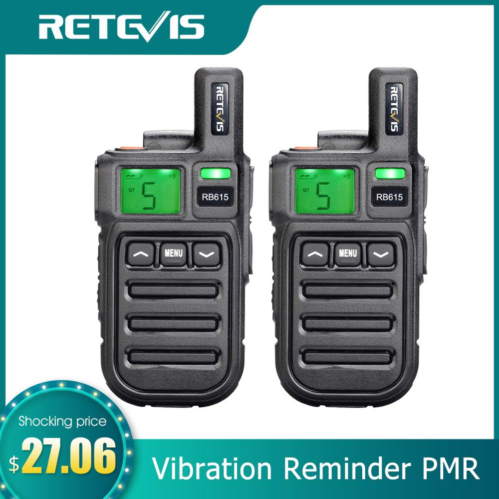 Retevis Walkie-Talkie Vibration Radio Vox Two-Way-Radio PMR RB615 Mini PMR446 Wireless-Cloning