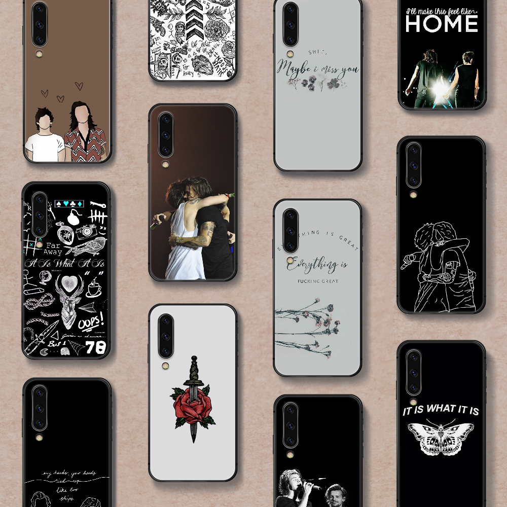 Larry Stylinson Tattoos  Phone Case Cover For Samsung Galaxy A10 A11 A20 E A21 A30 A40 A41 A50 A51 A70 A71 A81 S black
