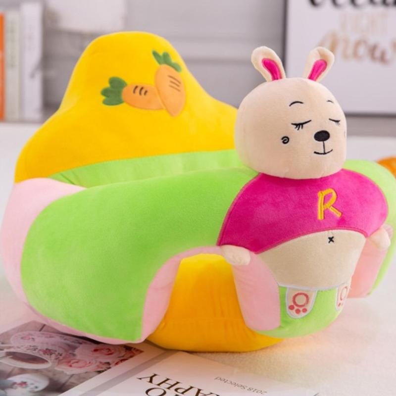 Sofa Support Seat Cover Baby Plush Chair Learning To Sit Comfortable Toddler Nest Puff Washable Cradle Sofa Chair