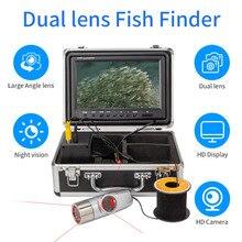 Двойная камера объектив эксклюзивный дизайн! SYANSPAN 4500mAh HD 1000TVL инфракрасное подледное рыболовное Подводное рыбопоисковое устройство видеокамера