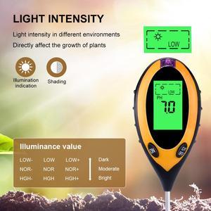 Image 2 - 4 in1 Plant Earth Soil PH Moisture Light Meter Thermometer Temperature Sunlight Tester For Gardening Farming