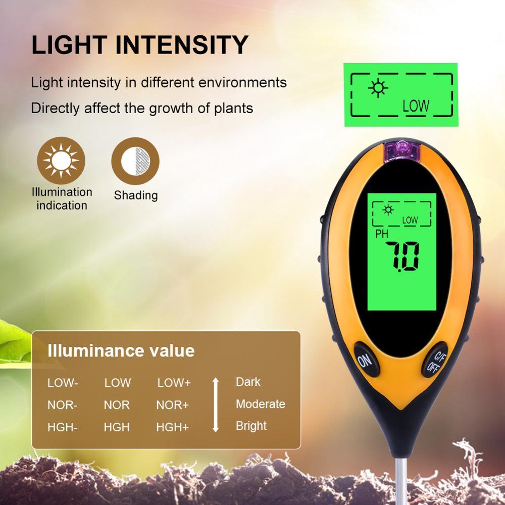 Image 2 - 4 in1 Plant Earth Soil PH Moisture Light Soil Meter Thermometer  Temperature Tester Sunlight Tester For Gardening Farminglight  standardtester perfumelight foundation make up