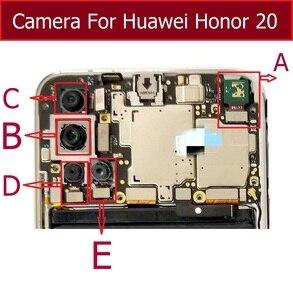 Передняя Задняя камера для Huawei Honor 20 YAL-AL00 YAL-L21 основная задняя широкоугольная камера с гибким кабелем запасные части