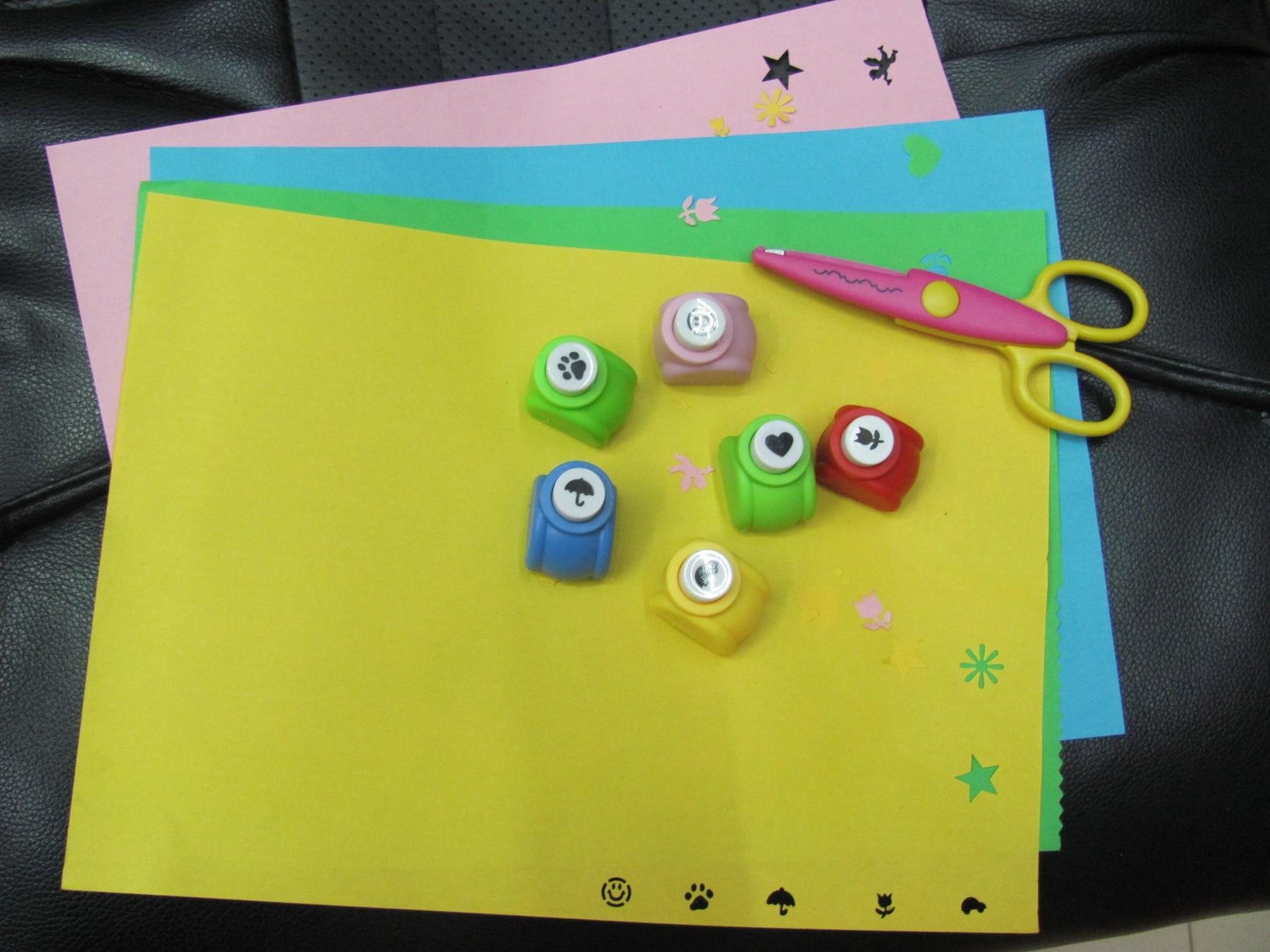 cartas de scrapbook, artesanato com estrela, mini