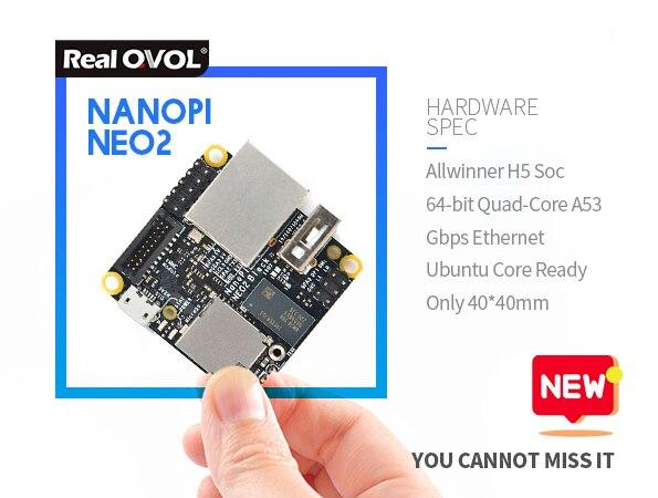 NanoPi NEO2 Development Board (512MB/1GB DDR3 RAM) ARM Cortex-A53