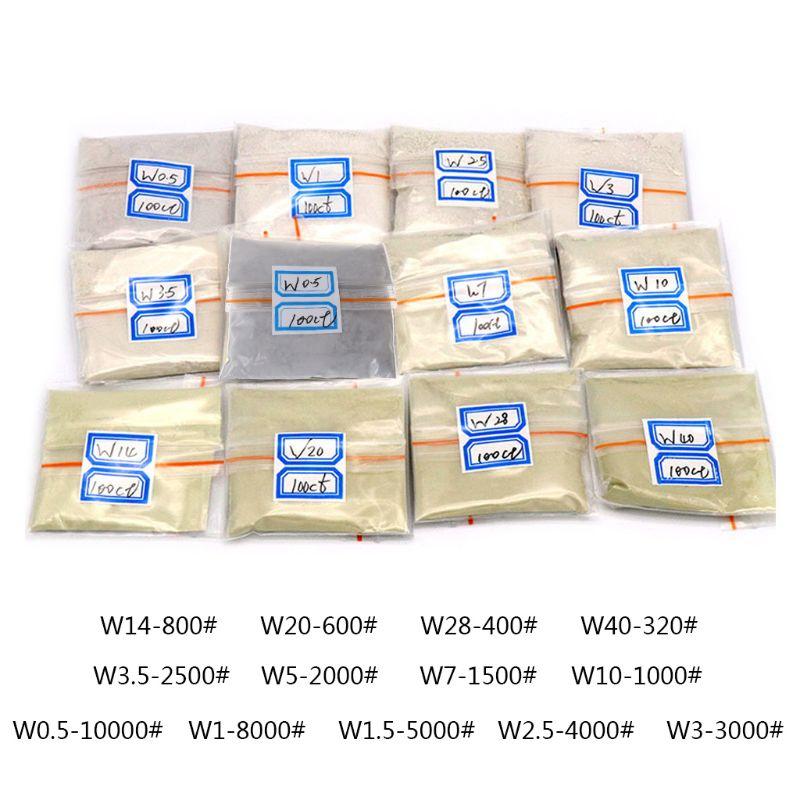 100 Carats / 20g W0.5 To W40 Polishing Powder Diamond Micron Powder Polishing Tools For Gemstones Jade Ceramics Carbide 83XA