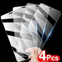 4 pezzi di vetro temperato a copertura totale per iPhone 11 12 Pro XS Max XR X pellicola protettiva per iPhone 8 6 7 Plus vetro protettivo