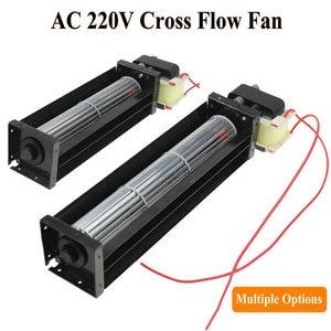 Image 1 - 1 ชิ้น Cross Flow พัดลม AC 220V 50/60Hz 12W 10W Ball แบริ่ง Crossfow ระบายอากาศ 200 มม.180 มม.