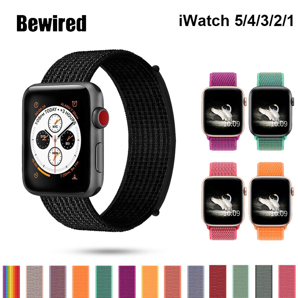 Sport Loop Strap For Apple Watch Band 44mm 42mm Iwatch Band 40mm 38mm Nylon Bracelet Watchband Apple Watch Series 5/4/3/2/1