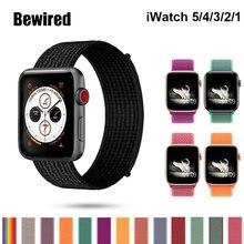 Спортивные петли ремешок для Apple смотреть Band 38мм 42мм iWatch 44 мм 40 мм нейлон ремешок для часов браслет часы серии 5/4/3/2/1