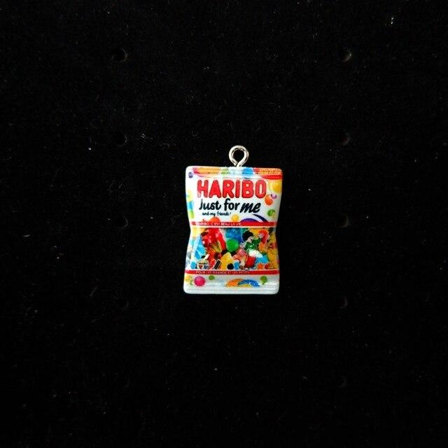 Ciondoli con ciondoli in resina Candy per bracciali decorativi collana orecchini portachiavi creazione di gioielli retro piatto in resina