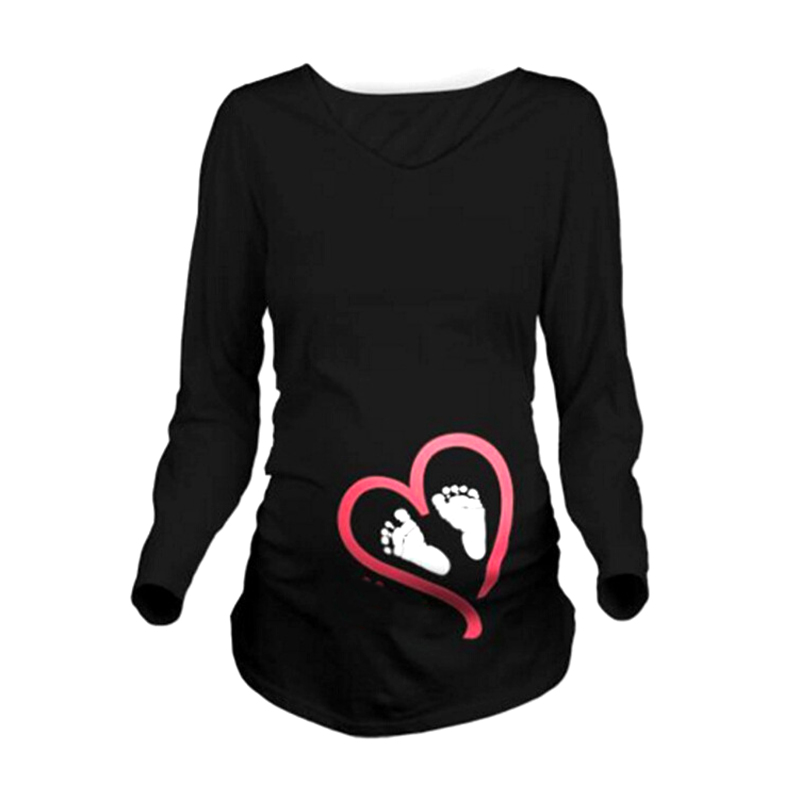 Maternity Clothes New Maternity Long Sleeve Tshirt Casual Maternity Clothing Clothes For Pregnant Women Maternity Dress