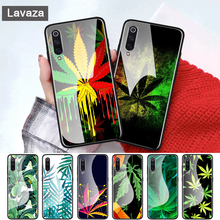 Tropical weed hemp leaves Glass case for Xiaomi