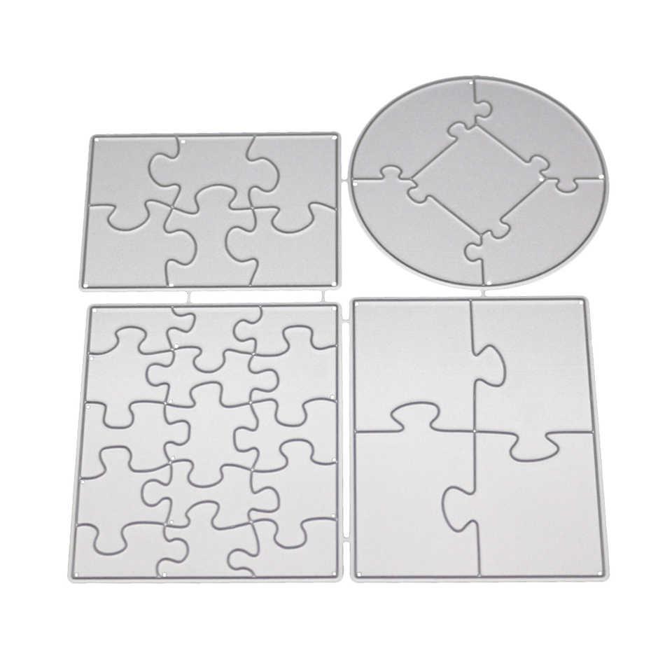 長方形ラウンド金属切削ダイスステンシル楽しいパズルクラフトカットはスクラップブック diy 手作りアルバム紙カード装飾ダイス