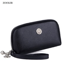 ZOOLER Luxury wallets woman 2019 designer genuine leather bag for women cow coin purse mini small wallet-G200