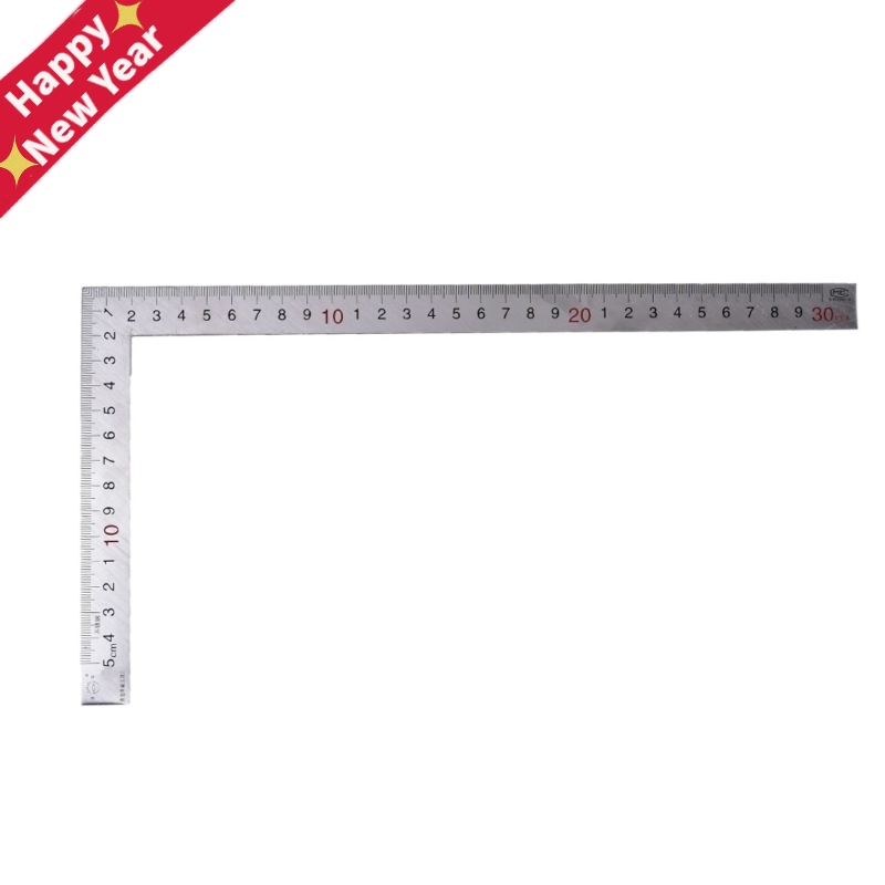 1pc Straight Stainless Steel 90 Degrees Angle Metric Try Mitre Square Ruler School Office Stationery 150x300mm