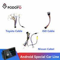 Podofo Android radio Accessori Per Auto Filo di Cablaggio Adattatore del Connettore Spina cavo Universale Per La Messa A Fuoco Kia Nissian Toyota