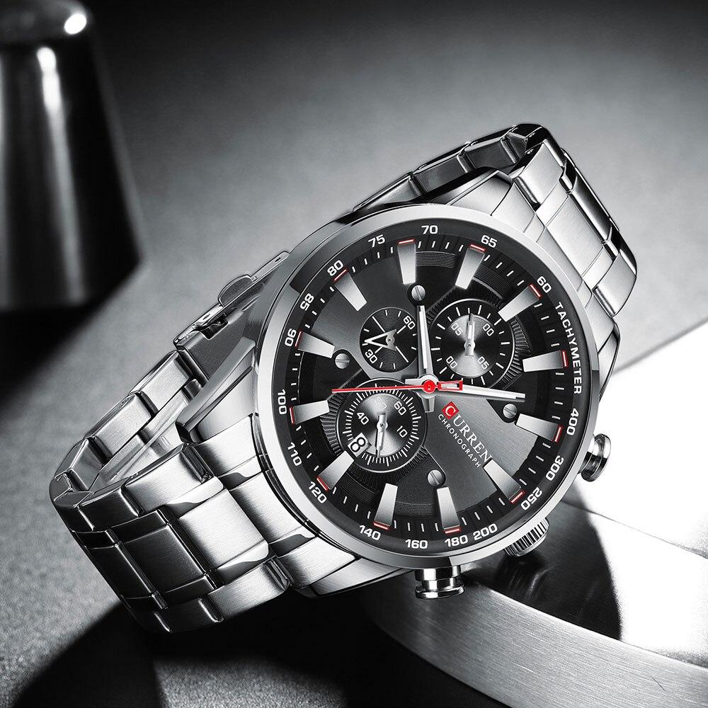 de quartzo masculino homem de negócios relógios