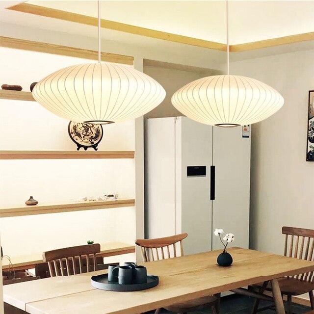 간단한 흰색 전등 갓 종이 샹들리에 주방 섬 레스토랑 펜던트 램프 크리 에이 티브 로프트 industial 일본어 샹들리에