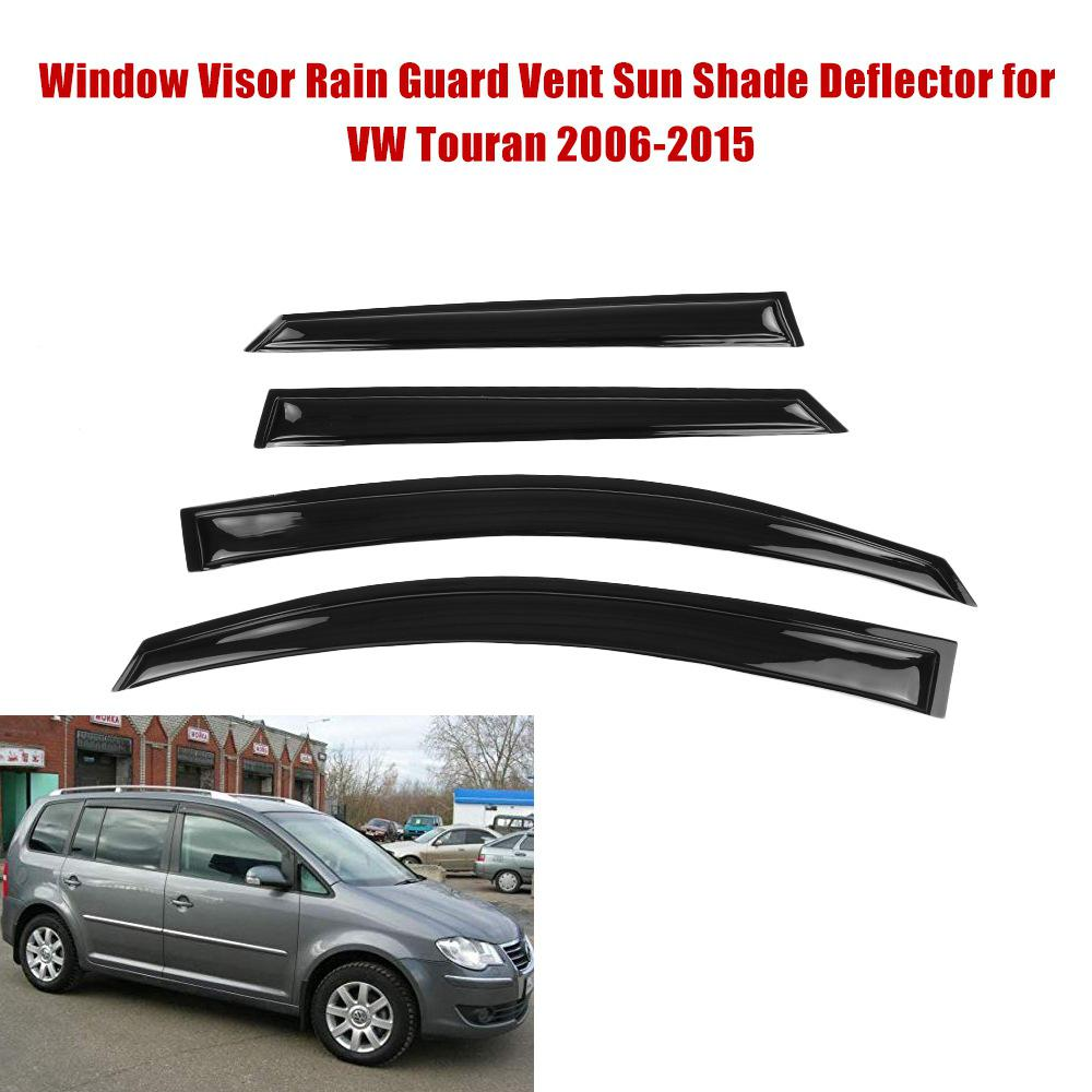 4PCS Car Window Deflector Visor Shade Sun Guard for Volkswagen Touran 2006-2015
