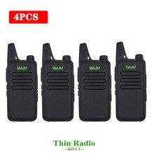 4PCS WLN 미니 워키 토키 KD C1 UHF 400 470Mhz 핸드 헬드 양방향 라디오 방송국 통신 트랜시버 햄 라디오