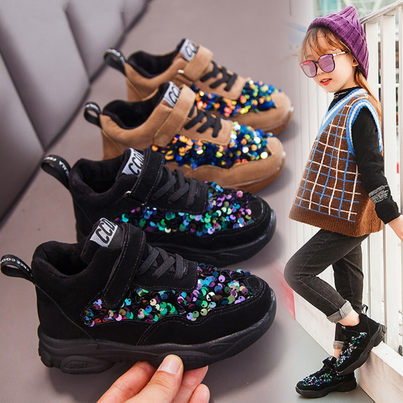 Toddler Infant Kids Shoes For Boys Kids Babys Soft Sole Winter  Sequins Running Sport Shoes Girls Sneakers Tenis Infantil Zapato|Sneakers| |  - title=