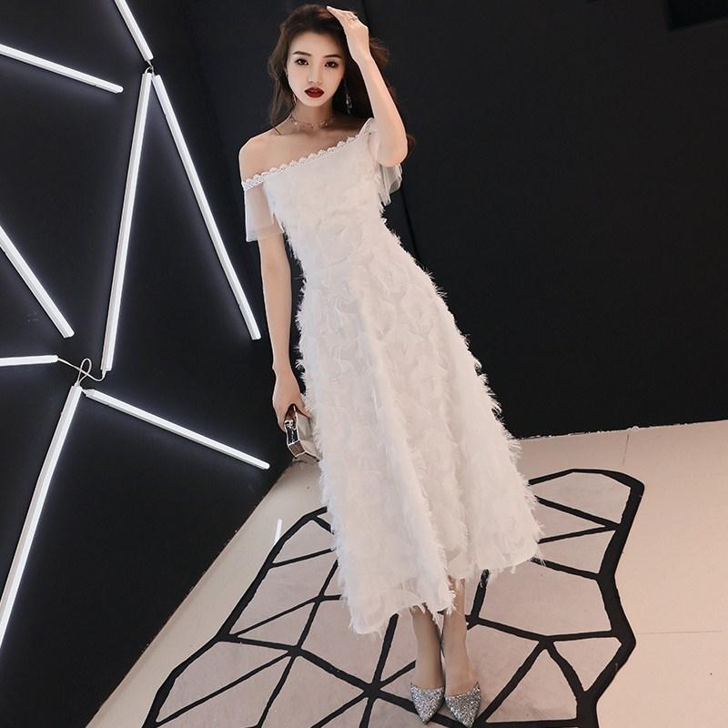 2020 Limited Vestido De Noiva Vestido De Festa Evening Dress Women's 2020 Banquet Noble Celebrity Medium Long Thin High-end
