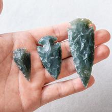 1pc Raw Ore Gems Agates Charm Pendant for Necklace Arrow Head Rough Healing Point Natural Stone Accessories Evil Spirit