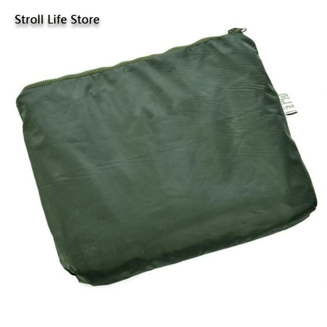 Outdoor Green Raincoat Set Men Rain Pants Handed Over Package Motorcycle Rain Coat Military Poncho Rainwear impermeable gift 3