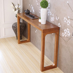 Solid Wood Console Modern Minimalist Chinese Style Entrance Hall Cabinet Sofa Lazyback Table A Long Narrow Table a Few Altar Con