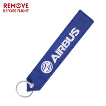 AIRBUS Keychain Aviation Gifts for Embroidery Chaveiro Para Moto Keyring EDC Customized Car Key chains Bag Tag Gift