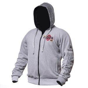 Image 1 - 2019 новые Олимпия мужские спортивные куртки с капюшоном тренажерные залы Фитнес футболка для бодибилдинга спортивные пуловеры мужские тренировки с капюшоном куртка одежда