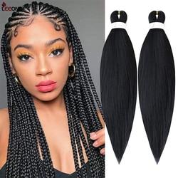 Cheveux de tressage pré-étirés Leeons tresse facile cheveux de tressage professionnels fibres synthétiques Ez tresses Yaki Texture Extensions de cheveux