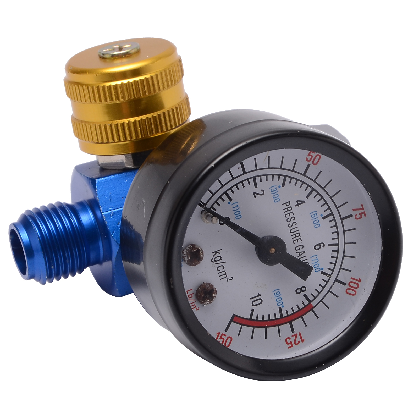 1/4'' Spray Paint Gun Air Pressure Regulator Pressure Gauge Pneumatic Tool Accessory For Spray Tool