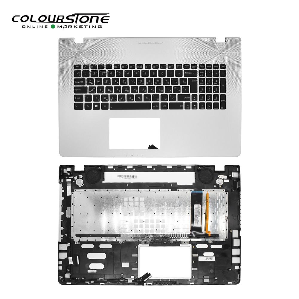 RUSSIA Black With Cover C Laptop Keyboard Notebook RU Keyboard For ASUS N76 Backlit Keyboard