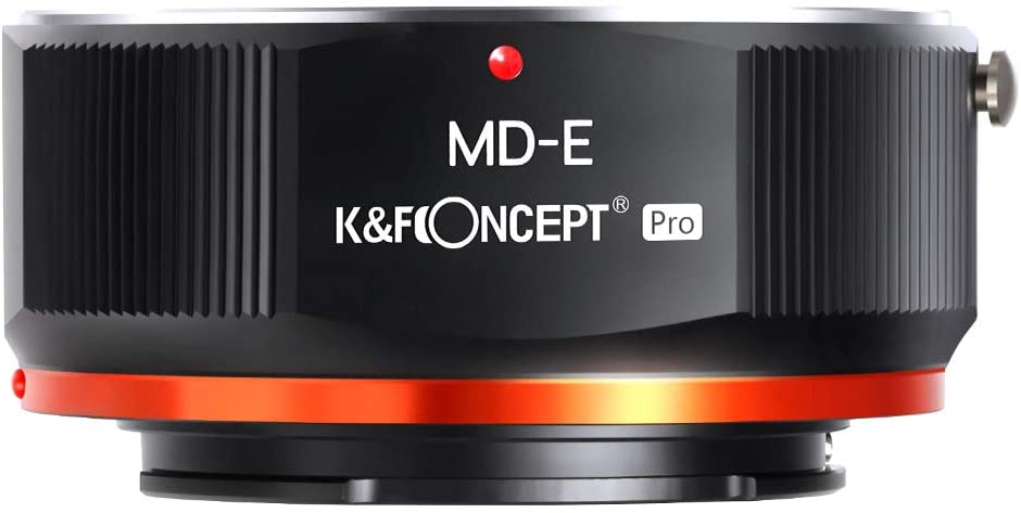 K&F Concept MD To NEX Lens Mount Adapter For Minolta MD MC Mount Lens To NEX E Mount Mirrorless Cameras With Matting Varnish