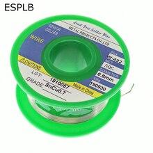 ESPLB 0,6/0,8/1,0/1,2/1,5/2,0 мм, бессвинцовый припой, оловянный припой с канифольным ядром, 50 г, Sn99.3 Cu0.7, сварочный паяльник