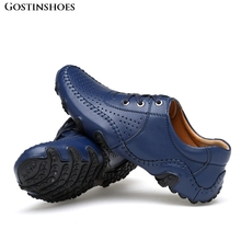 Large Size Men Loafers Moccasins Men Genuine Leather Casual