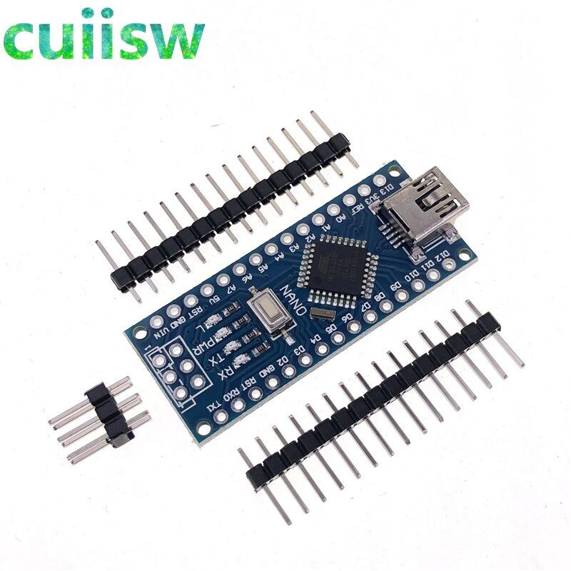 Плата контроллера Mini USB CH340 Nano 3,0 ATmega328P, плата, совместимая с Arduino Nano CH340C, USB-драйвер Nano V3.0 ATmega328